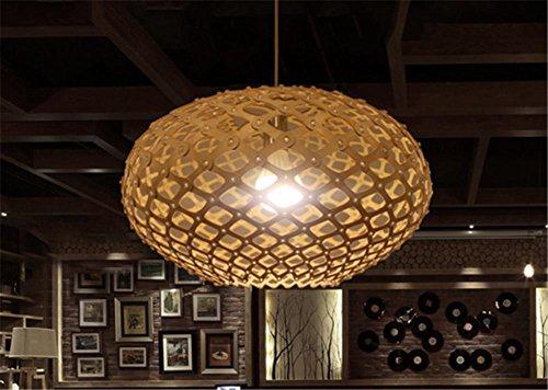 H&M Eclairage de plafond Luminaires Lustre Suspension Vintage en bois creux circulaire lustre Inn and Cafe Eclairage Lustres