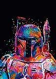 TAHEAT DIY Pintura al óleo por números, lienzo de soldado Star Wars...