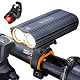 BenRich Bike Lights Set 2400 Lumens Cree XML-T6 LED USB Rechargeable, Waterproof Cycling