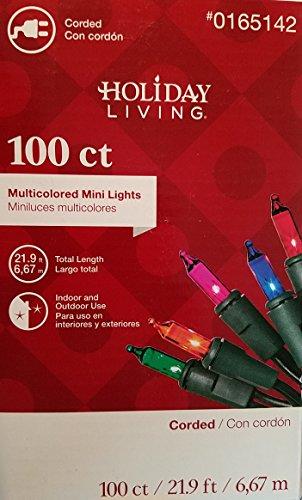 Holiday Living 100-Count Multi Mini Christmas