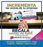 Bonotravel Regalos de Empresa Incrementa Las Ventas de tu Empresa regalando Noches DE Hotel, BALNEARIOS 2X1, VUELOS ETC. Incluye Talonario Pack 10 Unidades