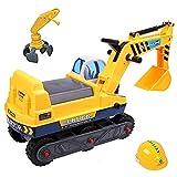 deAO Vehículo Correpasillos Camión de Construcción con Excavadora Manual...