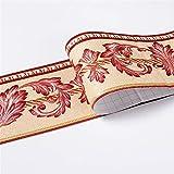 Cenefa autoadhesiva de PVC, adhesivo de pared, resistente al agua, para baño, cocina, decoración de pared (#15)