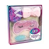 Three Cheers for Girls - Rainbow Bright Bath Set - Shower and Spa Kit for Teens and Girls - Includes Hair Towel Wrap, Hair Brush, Gel Eye Mask, Headband & Loofah