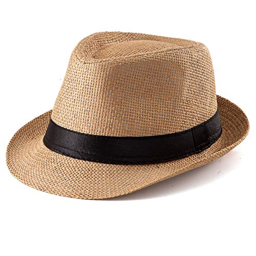 Classic Unisex Quality 100/% Cotton Summer Panama Fedora Trilby Hat With Band