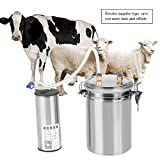 Elektrische Fritteuse, elektrisch, Vakuum-Pumpe Latte doppelter Kopf 2L Milchaufschäumer Fresco Kuh Haushalt Edelstahl Pecore, Mucche, Capra