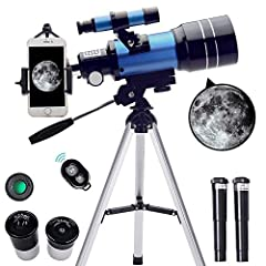 【15X-150X High Magnification】Our telescope is equipped with a 3X Barlow lens and two replaceable eyepieces, H20mm and H6mm, so kids can get magnification from 15X to 150X. Whether watching planets or observing moon at night, ToyerBee telescope is the...