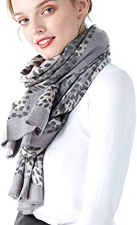 CARESEEN Women Leopard Print Scarves Reversible Animal Print Large Winter Warm Pashmina Scarf Soft Blanket Womens Shawls Wrap