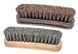 Rubberneck Set de 2 Cepillos de Pelo de Caballo para el Cuidado de los...