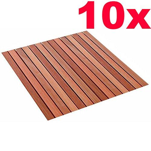 ROG garden-line 10 STÜCK Magnum HOLZFLIESEN BANGKIRAI 100 x 100 cm = 10 m²
