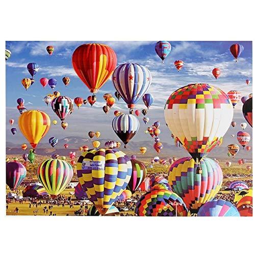 Phoenix Klassisches Puzzle 1000 Teile Jigsaw 70 x 50 cm Landschaft Heißluftballons mit hochauflösendem Druck gerahmtes Puzzle für Erwachsene und Kinder kreative Lernspiele