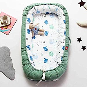 JXSHQS Baby Sleeping Nest Bed Newborn Bassinet Portable Playen Removable And Washable Crib Cotton Infant Cradle Cot 90x55cm Baby cot  Color Charactizing