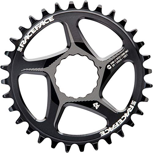 Race Face Direct Mount Shimano 12v-32t-negro bandejas para Adulto, Unisex, Negro, 32
