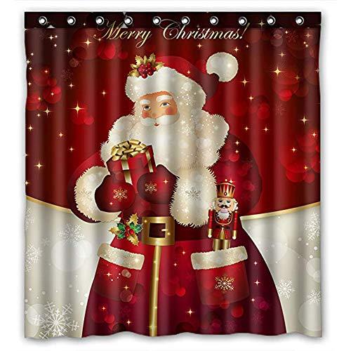 chelseabyt Merry Christmas Custom Waterproof Fabric Polyester Shower Curtain Bathroom Decor 71' 71'