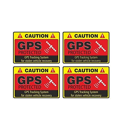 WBXZY Pegatinas de Coche 4X7,3 CM * 4,8 CM Etiqueta de Advertencia para Coche Precaución Sistema de Seguimiento GPS Calcomanía protegida PVC 12-0913