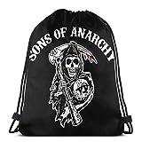 Lsjuee Sons of Anarchy Mochilas con cordón Bolsa de deporte