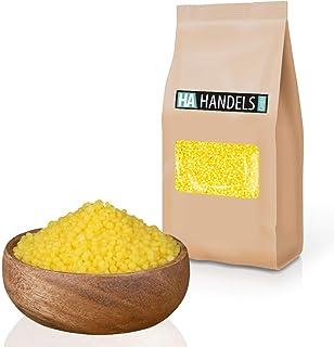 HA Handels GmbH Bienenwachs Pastillen gelb naturbelassen für Naturkosmetik Kerzen Wachstücher Creme Lippenbalsam ungebleicht zum Schmelzen wiederverschließbare Verpackung 500g - 2,5kg 2,5kg