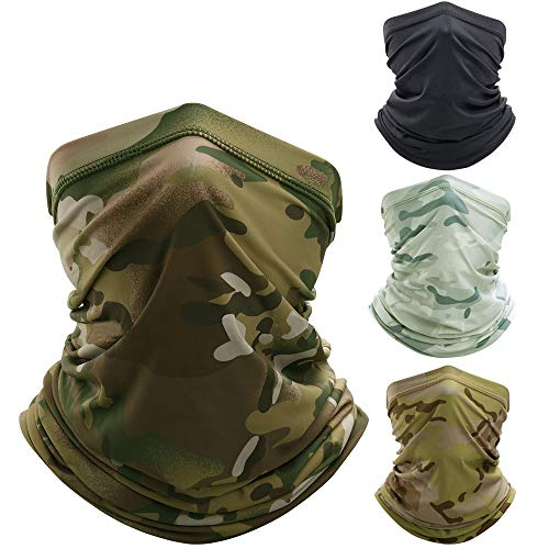 4 PACK Bandana Colorful camouflage Neck Gaiter Tube Scarf Face Cover (1)