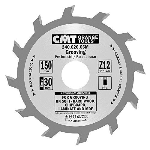 CMT Orange Tools 240,020,06 m scie circulaire à rainer 150 mm x 12 x 30 droite z