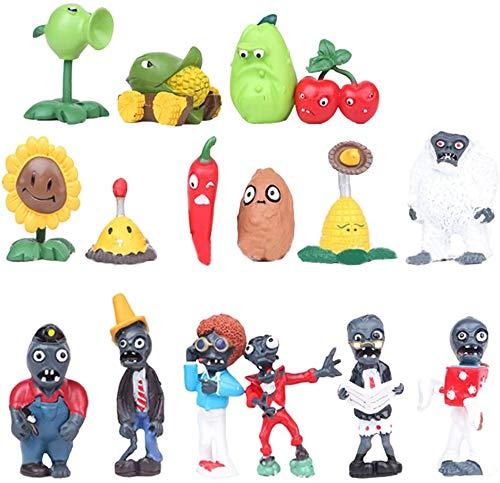 BZM Plantas contra zombies, muñeca de plástico, dibujos animados, juguete para adultos y niños, regalo de cumpleaños