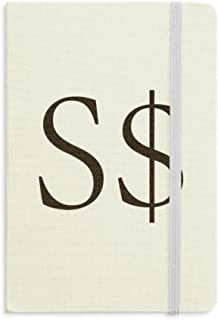 Currency Symbol Singapore Dollar Notebook Fabric Hard Cover Classic Journal Diary A5