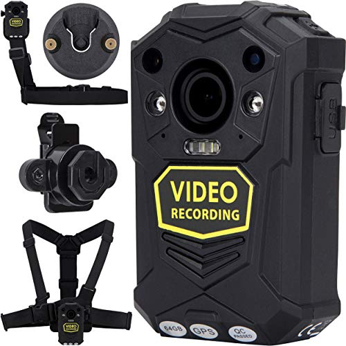 BRIFIELD BR1 Body Camera - HD 1440p, GPS & 64GB Version   Body Cam for Security...