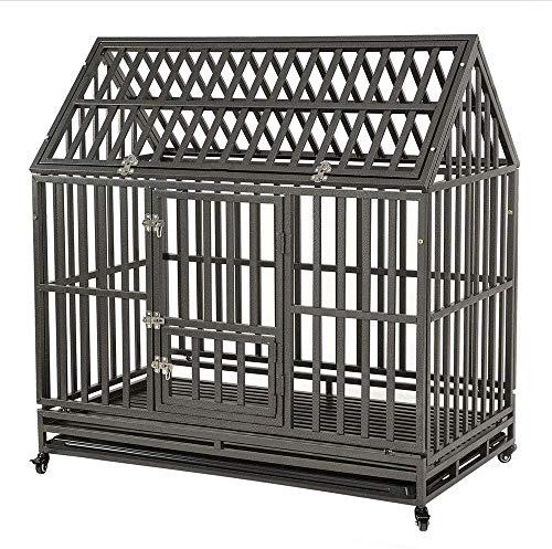 KELIXU Heavy Duty Dog Crate Large Dog cage Dog Kennels and Crates