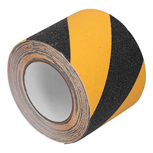 Cinta Amarilla y Negra, para tuberías de Paredes de Piso, Cinta Adhesiva de Seguridad de Advertencia de precaución, Herramientas industriales