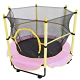 Boddenly My First Trampoline - 5FT Kids Trampoline, Toddler Mini Trampoline Recreational Trampolines with Enclosure Net Jumping Mat and Spring Cover Padding