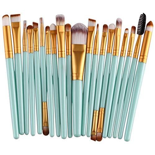 Brosse de maquillage Set Nouvelle arrivée 20pcs pinceaux de maquillage Set outil poudre Comestic (or vert) Cosmétiques Set Brosses