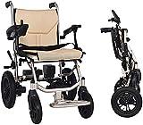 SOAR Sillas De Ruedas Electricas Silla de ruedas eléctrica con el sistema de asistencia de pendiente de EABS, silla de ruedas plegable liviana, coche de movilidad portátil para discapacitados y ancian