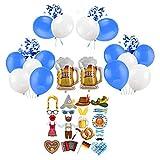 Oktoberfest - Juego de 23 decoraciones para fiestas de Oktoberfest bávaro, 32 globos para colgar decoración