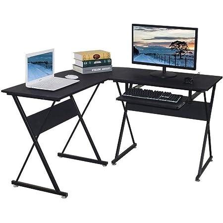 L escritorio en forma de ordenador con teclado bandeja ...