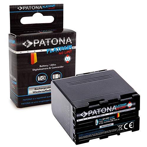 PATONA Platinum Batería BP-U50 con D-Tap, Puerto USB, Compatible con Sony PMW-EX1,...