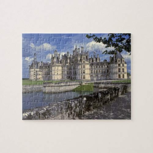 CICIDI Europe, France, Chambord. Imposing Chateau Jigsaw Puzzle 1000 Pieces for Adult Entertainment DIY Toys , Graet Gift Home Decor