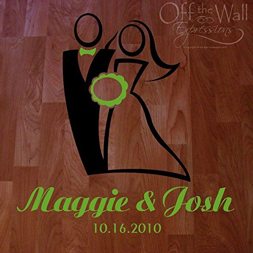 ChloeLew778 Wedding Dance Floor Decal Bride And Groom Wedding Decal Reception Decoration Removeable Decal
