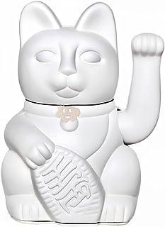 Gato de la Suerte. Lucky Cat. Maneki Neko. COLOR BLANCO 10x6x15cm.