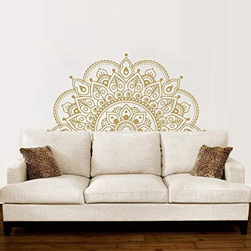 LACKINGONE Wandtattoo Mandala Wandaufkleber Wandsticker 57 * 118 cm wasserdicht für Wohnzimmer, Schlafzimmer, Badezimmer, Büro (Gold)