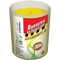 Compo Repelente Barrera de Insectos Vela de citronela antimosquitos y Moscas, Perfumada, Cristal, hasta 30h, 130 g