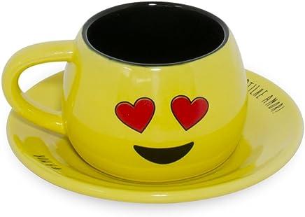 Conjunto Xícara/Pires Tropeiro Amor 150ml J4442 Amarelo - Mondoceram