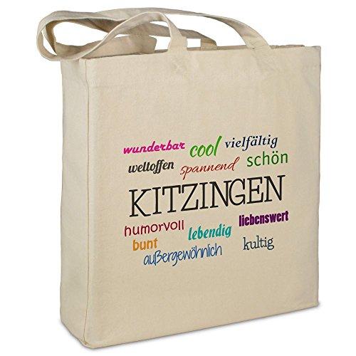 Stofftasche mit Stadt/Ort