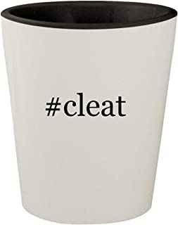 #cleat - White Outer & Black Inner Hashtag Ceramic 1.5oz Shot Glass