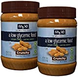 Fifty50 Foods Low Glycemic, No Added Sugar, Crunchy Peanut Butter, 18 Ounce (Pack of 2)