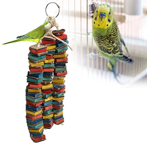 Yivibe Bird Hanging Toy, Bird Toy, Bird Chewing Toy, Colorful Parrots Wooden Block Toys, for Macaws Pet Birds