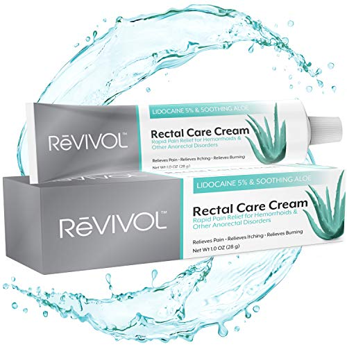 ReVIVOL-XR Plus | 5% Lidocaine + Soothing Aloe + Vitamin E | Fast-Acting Hemorrhoid Treatment Numbing Cream Ointment Topical | Skin Pain Relief | Non-Greasy | Made in USA