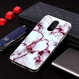 Dmtrab Phone Case pour LG Q7 Cas, Motif de marbre Doux TPU Coque de Couverture de Protection Couvrir...
