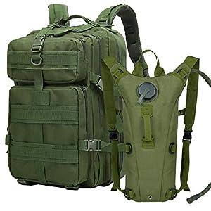 ATBPバックパックmolleミリタリー40L大容量 戦術 登山用ザックリュックサックメンズ旅行3Lハイドレーションバッグ