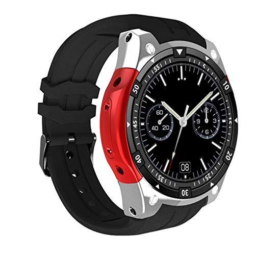 QCHNES Fitness-Uhr, IP67 Wasserdicht 6580 Quad-Core 512M Prozessor 8G Speicher, Echtzeit-Herzfrequenz-Blutdrucküberwachung Für Android