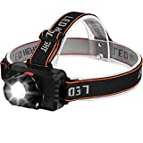 CoaTaco Headlamp Head Flashlight Rechargeable T6 Led Headlight Zoomable 3 Modes Water Resistant 120 Degrees Adjustable
