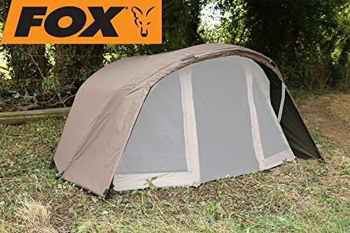 Fox Retreat+ Ripstop Ventec 1-man Compact Skin - Überwurf für Angelzelt zum Karpfenangeln, Zeltüberwurf für Fox Zelt